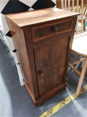 Sale 8777 - Lot 1071 - Late 19th Century French Walnut Bedside Cabinet, fitted with a drawer & panel door