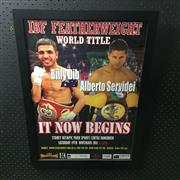 Sale 8805A - Lot 833 - IBF FeatherweightWorld Title Fight, 19th November 2011, Billy Dib vs Alberto Servidei, framed