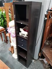 Sale 8834 - Lot 1076 - Slim Wall Unit with Two Drawers