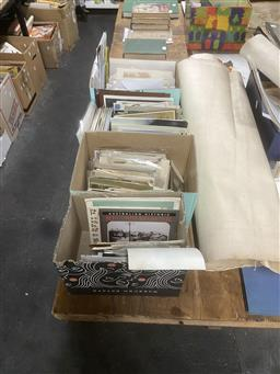 Sale 9101 - Lot 2271 - 4 Boxes of Vintage Postcards, Cards, Photographs etc