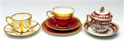 Sale 9211 - Lot 74 - A Suite of Cup and Saucers Incl. Aynsley