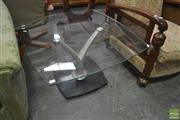 Sale 8257 - Lot 1069 - Glass Top Occasional Table