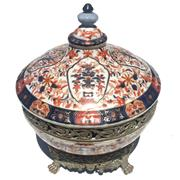 Sale 8356A - Lot 10 - Imari Pattern Lidded Bowl
