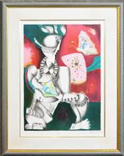 Sale 8286 - Lot 594 - Alexandra Nechita (1985 - ) - Victorious spirit, 1996 67 x 49cm
