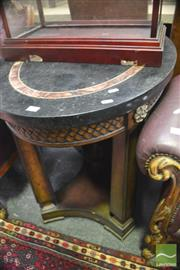 Sale 8323 - Lot 1037 - Oval Mahogany Tile Top Occasional Table