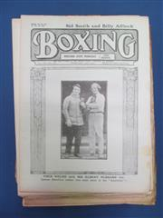Sale 8419A - Lot 52 - Boxing 1917 - a box containing Boxing UK Weekly 1917, with much 1920-1922