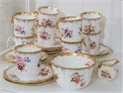 Sale 8470H - Lot 186 - A Hammersley part coffee service in Dresden Spray pattern with 9 cups