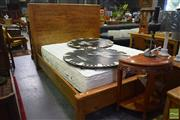 Sale 8550 - Lot 1234 - Hardwood Bed Frame with Mattress