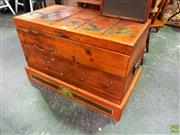 Sale 8648 - Lot 1051 - Timber Lift Top Trunk