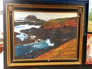 Sale 8682 - Lot 2052 - Artist Unknown Coastal Landscape, acrylic on canvas, 113 x 143cm (frame) signed lower right