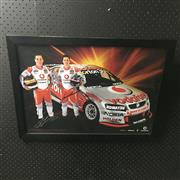 Sale 8805A - Lot 871 - Team Vodaphone Team, Jamie Whincup and Craig Lowndes 2007/08, framed