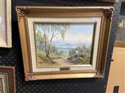Sale 8910 - Lot 2067 - Norman Saunder - View from Comboyne Mountain, oil on board, 19 x 24 cm,  signed lower left