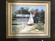Sale 9033 - Lot 2053 - A Van Wyk, Bayview, oil on board, 41 x 48cm (frame), signed lower right