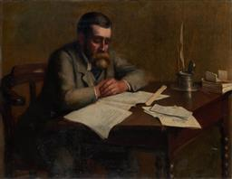 Sale 9109A - Lot 5072 - M. H. A Simpson Portrait of a Composer, 1889 oil on canvas (AF - slit to lower right corner) 86 x 112 cm signed and dated upper right