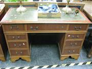 Sale 7972A - Lot 1025 - Timber Desk w Leather Insert Top