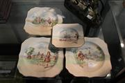 Sale 8098 - Lot 90 - Royal Doulton Historic England Set of 3 Plates with Another Smaller Example