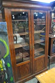 Sale 8098A - Lot 46 - Antique French inlayed bookcase with key