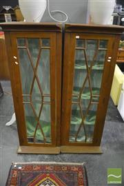 Sale 8386 - Lot 1058 - Pair of Slim Cabinets with Astragal Doors