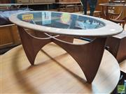 Sale 8451 - Lot 1089 - Oval Atmos Coffee Table with Glass Top