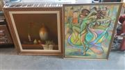 Sale 8433 - Lot 2036 - Two Framed Original Artworks