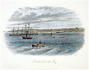 Sale 8549A - Lot 5088 - Samuel Thomas Gill (1818 - 1880) - Portland from The Bay 16.5 x 21cm (mount size: 31.5 x 35cm)