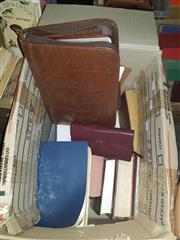 Sale 8659 - Lot 2360 - Box of Bibles incl Notebook Examples & The Baptist Church Hymnal 1900, Psalms and Hymns Trust, London
