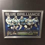Sale 8805A - Lot 877 - Blue Brilliance 2014 New South Wales Holden State of Origin Champions, Limited Edition, framed