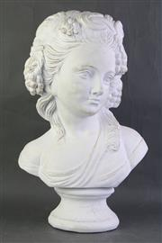 Sale 8806 - Lot 24 - Large Classical Ceramic Bust of a Lady ( H 51cm)