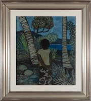 Sale 8863H - Lot 45 - RAY CROOKE (1922 - 2015) - Untitled (Islander) 58.0 x 49.0cm/ frame size 80cm x 73cm