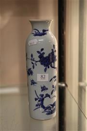 Sale 8096 - Lot 82 - Chinese Blue & White Vase Decorated with Birds & Foliage