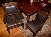 Sale 8127A - Lot 61 - A Suite of Eleven Late C19th Oak Carved Dining Chairs, c.1890, Possibly Beard Watson,