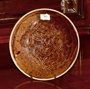 Sale 8127A - Lot 86 - Chinese Brown Glaze Plate,