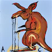 Sale 8316 - Lot 562 - Adam Cullen (1965 - 2012) - Untitled (Kangaroo Jack) 60 x 60cm