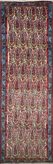 Sale 8323C - Lot 14 - Persian Sanandaj 280cm x 90cm RRP $1600