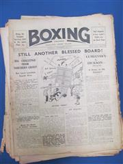 Sale 8419A - Lot 53 - Another Box - a box of boxing weeklies, mostly 1917-1933, in good order
