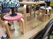 Sale 8455 - Lot 1039 - Bent Ply Kids Table and 4 Stools