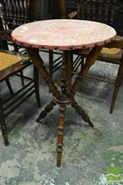 Sale 8500 - Lot 1028 - Victorian Fruitwood Gypsy Table with Turned Supports