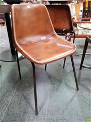 Sale 8566 - Lot 1054 - Set of Four Leather Clad Dining Chairs