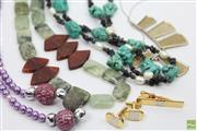 Sale 8635W - Lot 24 - Collection of Beaded and Stone Necklaces Together with Cufflink Set