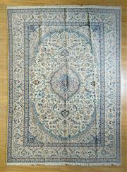 Sale 8693C - Lot 65 - Super Fine Persian Nain Silk Inlaid 385cm x 283cm