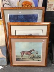 Sale 8753 - Lot 2094 - Group of (4) Antique Style Frames with Decorative Prints