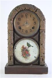 Sale 8849 - Lot 82 - A Glass Front Vintage Mantle Clock (Chip to Bottom Corner, Height 44cm)