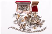 Sale 9023 - Lot 50 - A Collection of Vintage Costume Jewellery Set with Crystals, Diamantes and Pastes