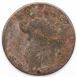 Sale 9164 - Lot 540 - William & Mary bronze farthing c1694, heavily worn