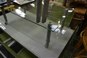 Sale 8093 - Lot 1452 - Tiered Glass Coffee Table