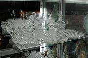 Sale 8100 - Lot 42 - Crystal Decanter with Other Similar Wares incl Glasses