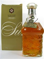Sale 8278 - Lot 1757 - 1x Suntory Whisky Excellence Blended Japanese Whisky - old bottling, some losses, in box