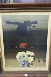 Sale 8578T - Lot 2009 - Lawrence Daws - Incident at Anakie VI, 1965, serigraph ed.28/50 (AF), 49 x 40.5cm, signed and dated lower right