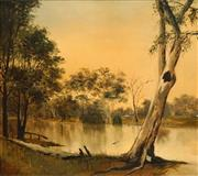 Sale 8538 - Lot 570 - John Ranclaud - The Cockburn River near Tamworth, Sept 7th 1894 40 x 44.5cm