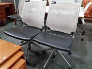 Sale 8822 - Lot 1086 - Pair of Mesh Back Desk Chairs by Vitra